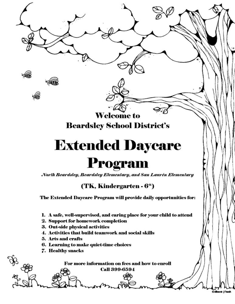 cover page daycare